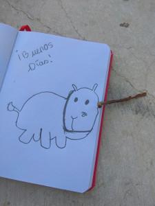 hipopotamo disfrazado de rinoceronte